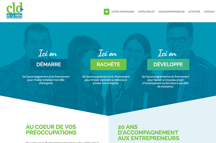 Conception du site Internet - CLD La Mitis