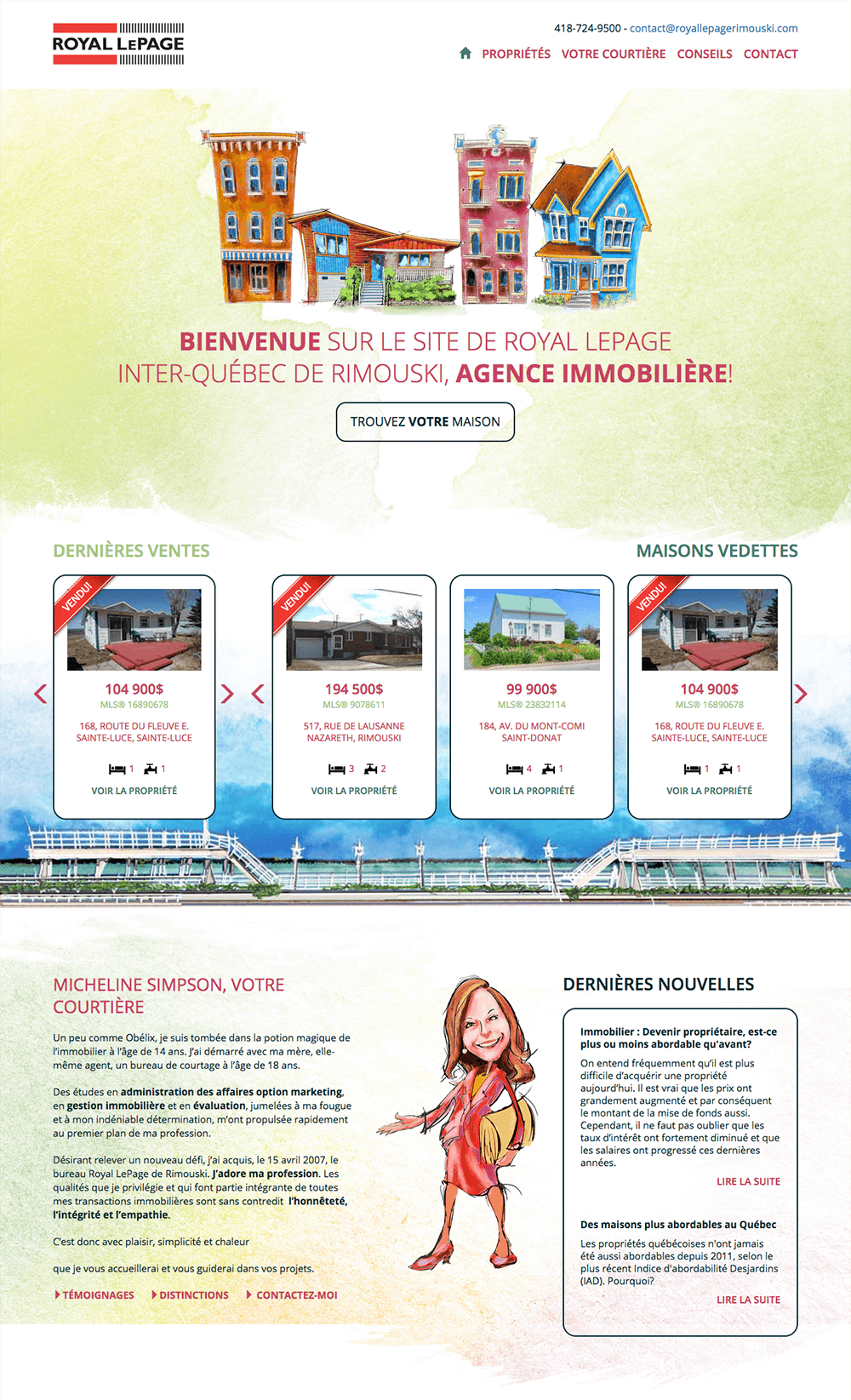 Conception du site web de Royal Lepage